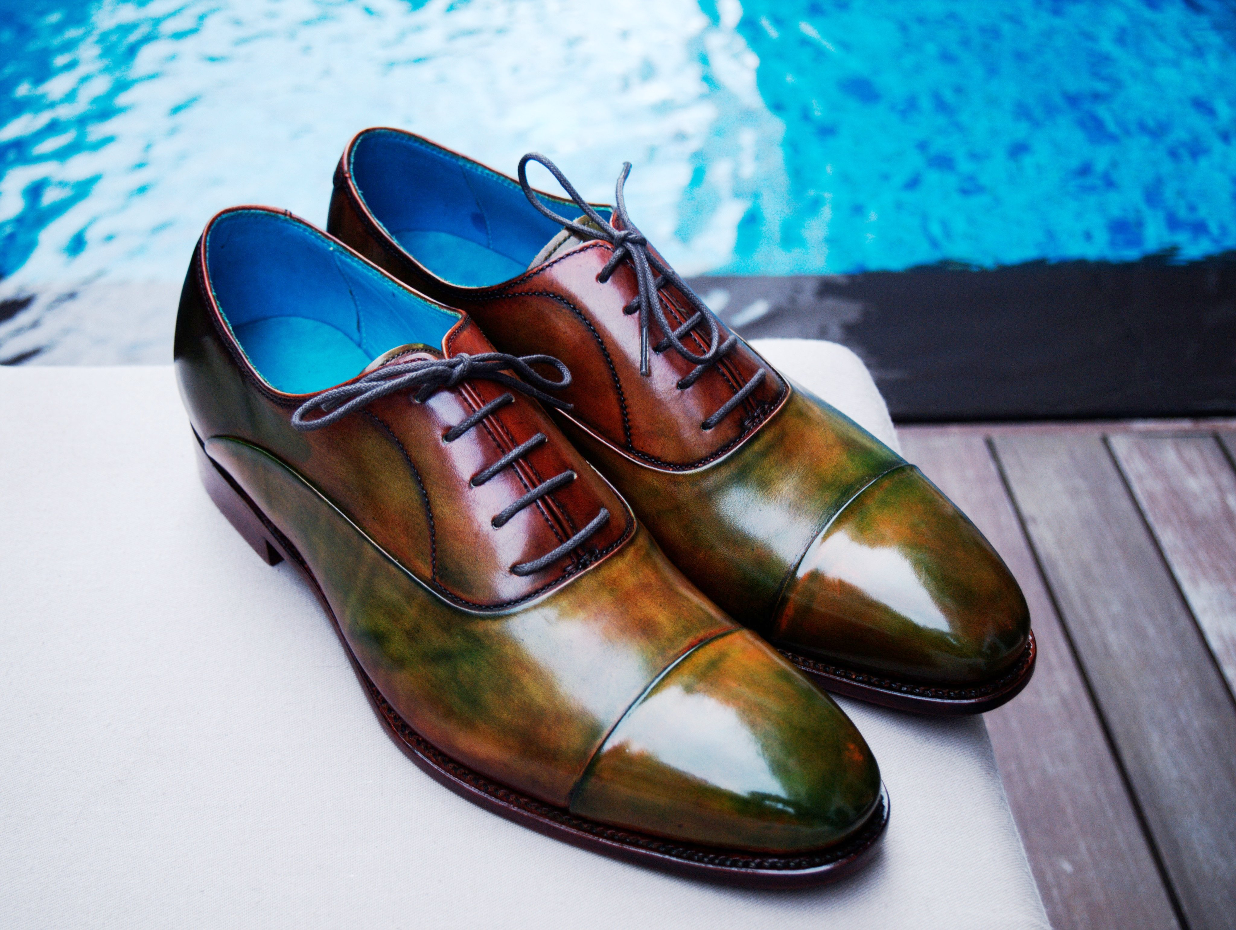 Personalised shoes and leather goods for men